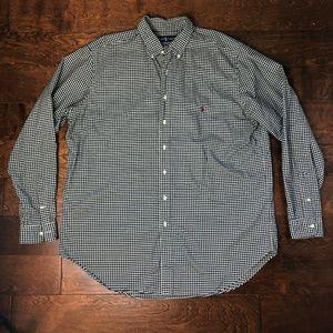 Ralph Lauren Black Checkered OXFORD Shirt Size XLT